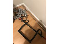 Dumbbell set and pull up bar