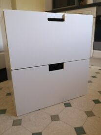 Ikea STUVA unit with 2 large drawers (white) ~ Used, excellent condition ~ £15