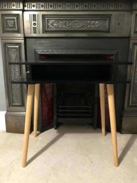 Habitat Cato Desk - Black Desk With Solid Wood Legs - 317136 for sale  Highgate, North London