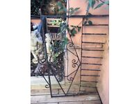 Ornate wrought iron fence 120 x 85cm. Could be used as a trellis.