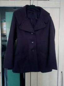 NEW LOOK size 10 jacket coat. Worn only a few times