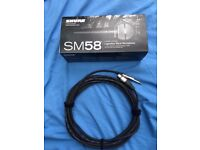 Shure SM58 Professional Legendary Vocal Microphone BRAND NEW. Includes 20 ft Pro Audio Cable