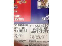 2 tickets chessington world of adventures £15
