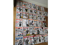 MEN'S HEALTH MAGAZINES (37) SUITABLE FOR COLLECTOR. YEARS 2000 TO APPROX 2004