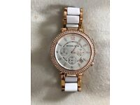 Michael Kors ladies watch excellent condition rose and white