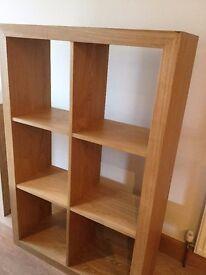 Six Shelf Solid Wood Unit