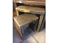 Nest of tables (reclaimed timber)