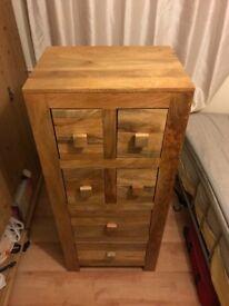 Solid Oak Tall Storage
