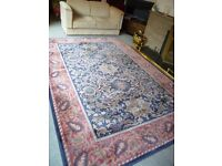 Rug-100% wool 2mtrs x 3 mtrs William Morris style