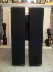 RTL 3 Transmission Line Floor Standing Speakers in near mint condition. Rosewood Finish