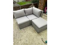Small, compact rattan sofa - as new!