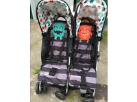 New Unisex Cosatto Supa Dupa Cuddle Monster Pushchairs/Double Seat Stroller