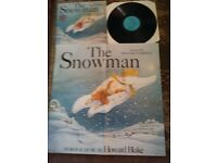 THE SNOWMAN 1983 & POSTER NR MINT ,CBS SOUNDTRACK BLAKE