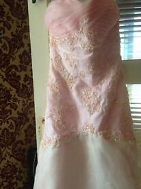 Pink and light mint green prom dress absolutely stunning sequins 10