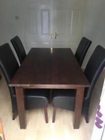 Dining table chairs & sideboard