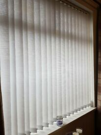 18 White Slats For Vertical Blinds - Ready Stringed and Weighted