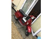 LML Candy Apple Red Scooter 17 plate