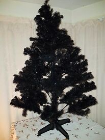 Paperchase black Christmas Tree 5ft