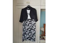 Berketex Dress with matching short Jacket. Worn once.
