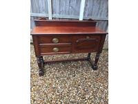 Solid mahogany Edwardian sideboard ( can deliver )