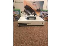 Xbox one s 1tb with game bundle and steering wheel