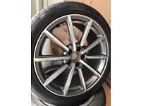 "GENUINE AUDI Q3 8U 19"" ALLOY WHEELS tyres Rs s line"