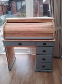 Large Victorian style roll top desk.