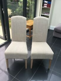 Pair of high backed chairs