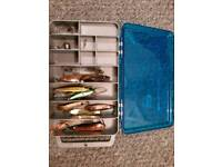 Taklr box with some trout lures
