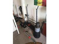 Home Gym Equipment Dumbbells Barbells Bench