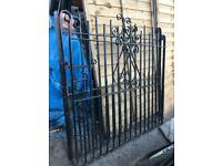 Orginal wrought iron 1925 heavy solid driveway gates.... 9ft by 4ft approx