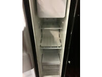 black american style free standing fridge/freezer