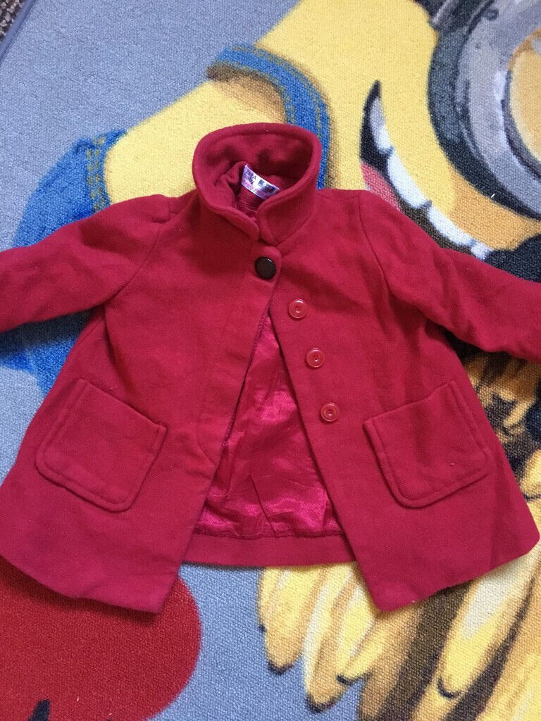 20946dfa Baby Girls Zara Red Wool Style Coat 6-9 months will post out | in ...