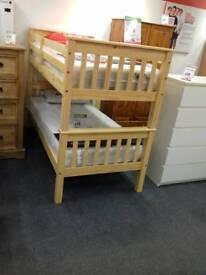 Single bunk beds (NEW) (Pine) BHF glasgow