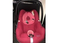 Quinny red buzz extra pushchair 3in 1 travel system car seat 2 rain covers footmuff