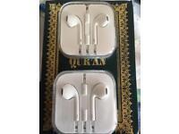 Tow I phone 6 5c 6s headphones brand new