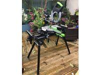 Evolution FURY3-XL 255mm Sliding Mitre Saw 230v and Evolution Universal Stand