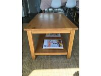 Solid Oak, great design and quality coffee table