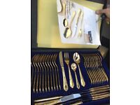 Beautiful gold plated antique cutlery set from Germany