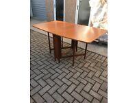 Teak retro drop leaf table