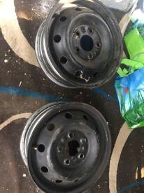 """4 16"""" steel wheels"""