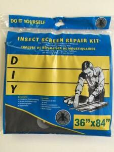 "NEW, DIY Insect Screen Repair Kit 36"" x 84"""