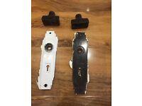 Bakelite IRIS door handles & plates