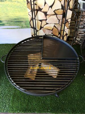 Fire Pit Brazier Logburner 50cm Full Circle 1/4 Hotplate BBQ ( GRILL ONLY )
