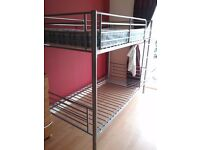 Metal bunk beds for sale with mattresses