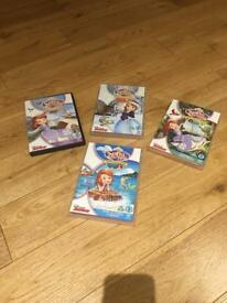 Sophia the First DVDs x4