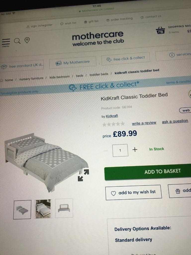 BRAND NEW KIDCRAFT CLASSIC WHITE TODDLER BED
