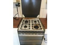 Free standing gas job with oven and grill