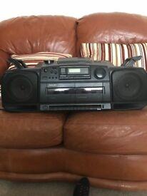 Philips Radio Cassette Recorder/CD Player