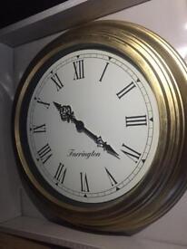 BRAND NEW Large Gold Clock